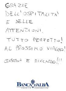 Casa Vacanze Fuisna (Dogliani) - Recensione Crisitna & Riccardo