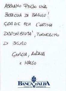 Casa Vacanze Fusina (Dogliani) - Recensione Giorgia, Andrea e Marco