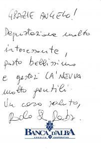 Casa Vacanze Fusina (Dogliani) - Recensione Paolo
